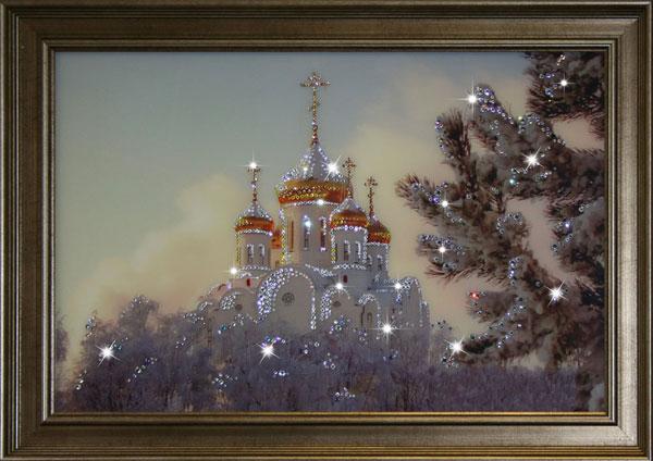 Картины из кристаллов своими руками фото