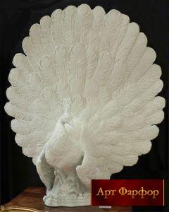 статуэтка белый павлин купить